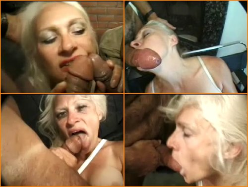 Big cock blowjob grandmother blonde with big tits - mature porn.