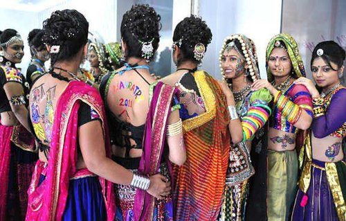 garba backless tattoo