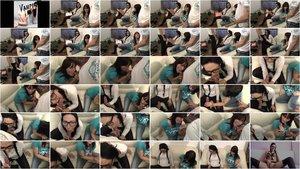 Mira-Grey - Doppelblow - beim Lernen in den Mund gespritzt [HD 720p]