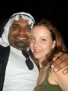 white woman arab man