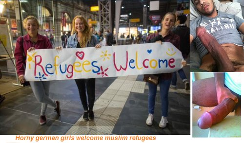 white girls muslim refugees