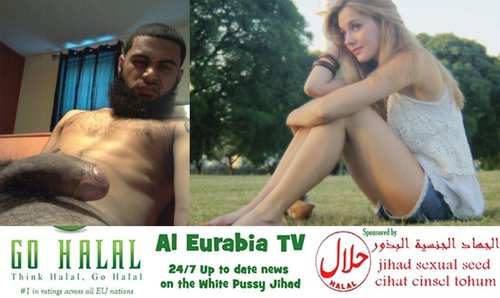 image German teen loves refugee bbc and beg for his cock