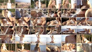 Mariana - Beautiful Petite Teen Fucking In Beach [SD 540p]